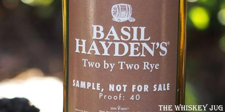 Basil Hayden's Two By Two Rye Label