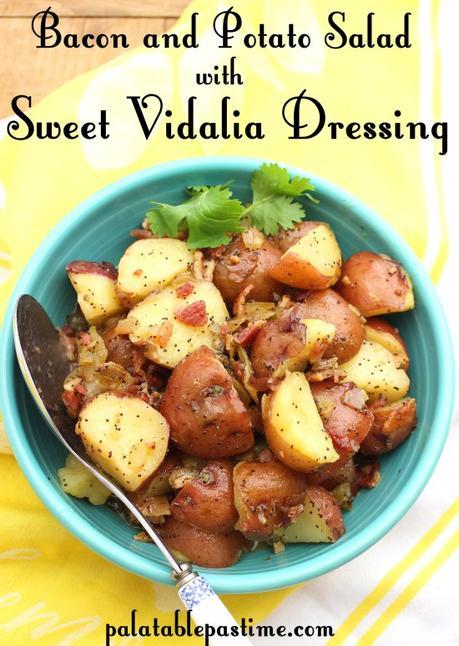 Bacon and Potato Salad with Sweet Vidalia Dressing #ImprovCooking