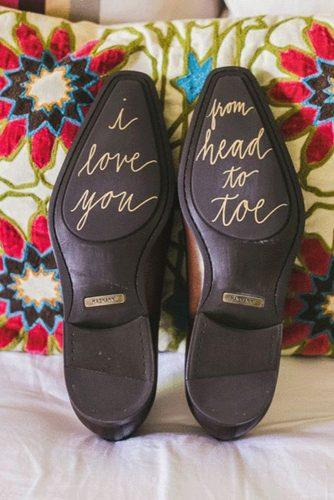 wedding shoe ideas gold decals for groom milou olis photography