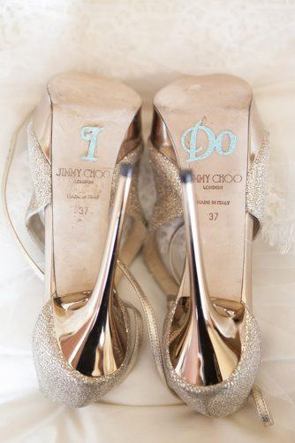wedding shoe ideas stickers on the soles up studios