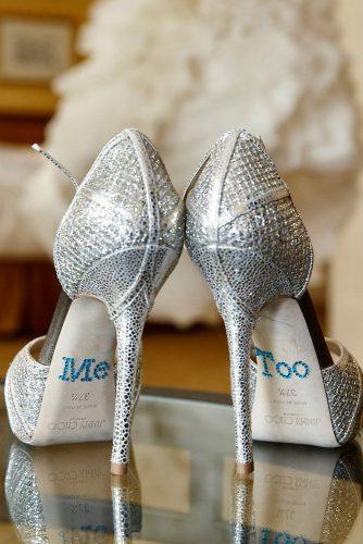 wedding shoe ideas decals sequins blue high low kinge smith