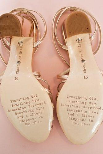wedding shoe ideas personalized messager on the soles charlotte mills