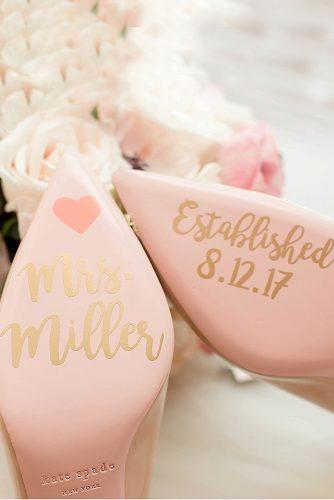 wedding shoe ideas gold decals on the soles kent stephanie photography