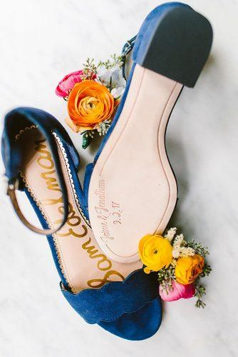 wedding shoe ideas flats blue personalized redfield photography