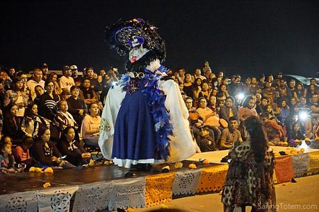 Glamorous costumed Catrina