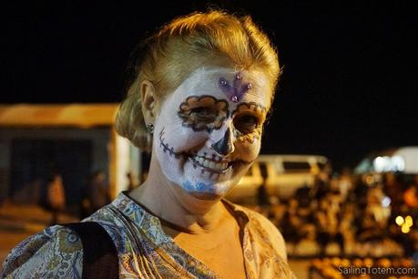 Woman in Catrina facepaint