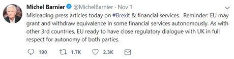 Michel Barnier Brexit tweet