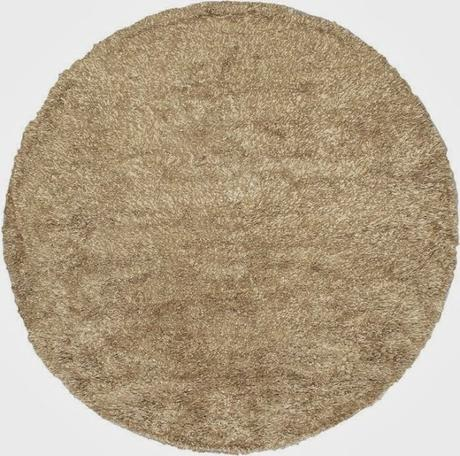 Make Your Home Feel Cozy and Comfortable with this Beautiful Casablanca Retro Modern Round Shag Rug