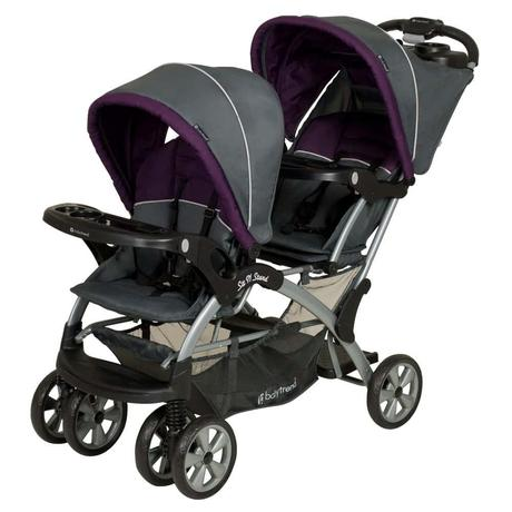 Baby Trend Sit N Stand Double Stroller, Elixer - double stroller for newborn and toddler