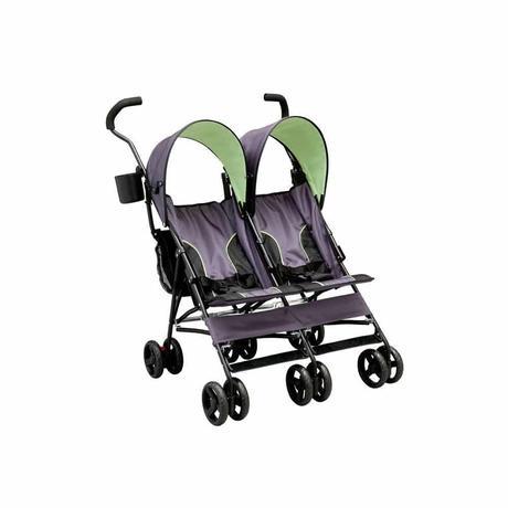 Delta Children LX Side by Side Tandem Umbrella Stroller, Lime Green - best double stroller for newborn and toddler - Off Road Baby Stroller
