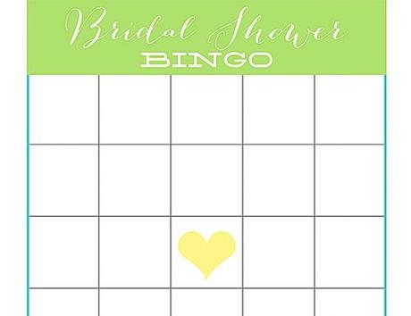 bridal shower bingo cards