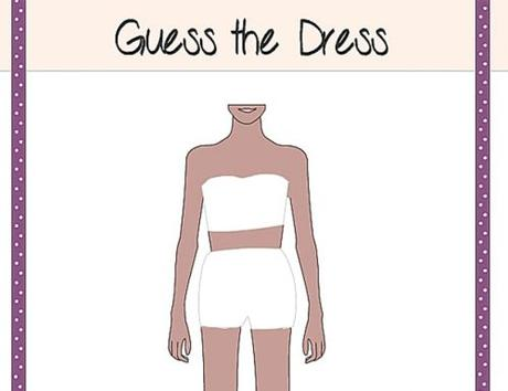 bridal shower games guess the dress game printable