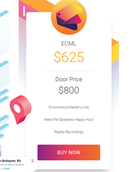 Ecommerce Mastery Live Bangkok 2018 Save 100$ Now (500% ROI)