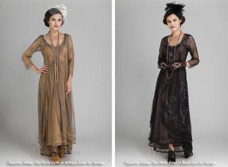 Vintage Downton Abbey Style Bridesmaid Dresses
