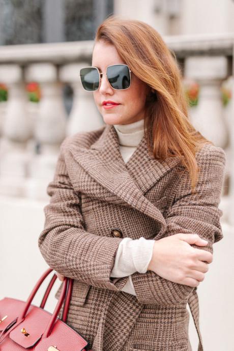 Amy Havins wears a Ralph Lauren wool trench.