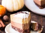Bake Layered Chocolate Pumpkin Cheesecake (Gluten Free, Paleo Vegan)