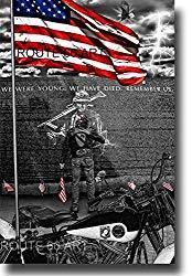 Image: Route 66 Harley Davidson Vietnam Veterans Memorial Wall Art Print