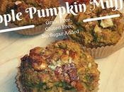 Pumpkin Apple Muffins- Grain, Gluten Free, Sugar Added