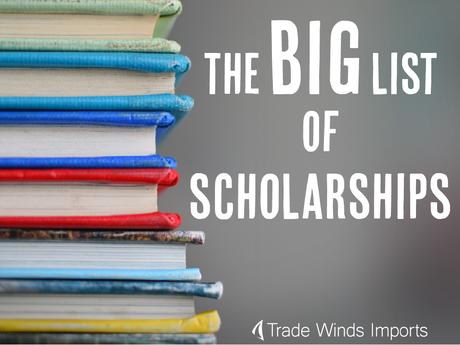 the big list of scholarships splash image