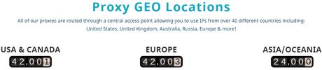 Proxyrack GEO Locations