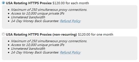 USA data center Rotating HTTPS Proxies