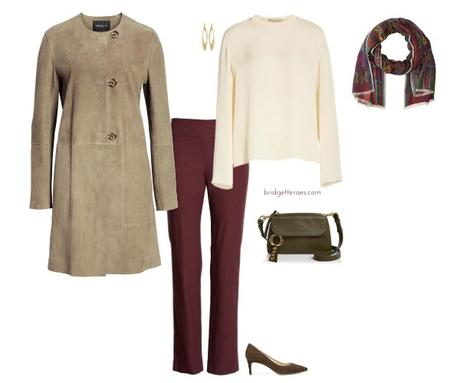 Maroon with what wear pants to 3 Ways