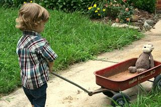 Image: Boy Pulling His Radio Flyer Wagon, by Gena Thomas on Pixabay