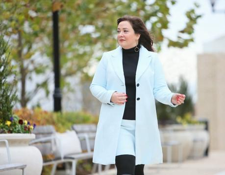 What I Wore: Ice Blue Skirt Suit