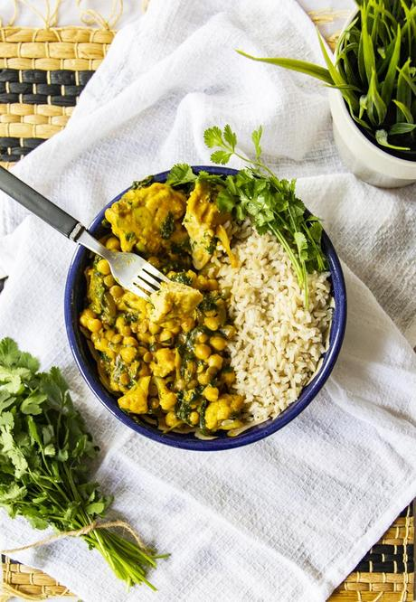 Curry with Chickpea Dumplings