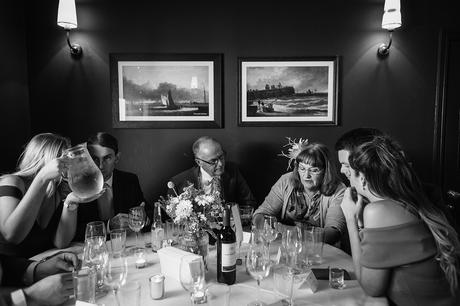 guests seated in the dining room