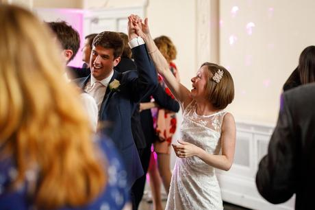 bride and groom enjoy the first dance