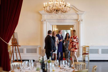 guests enter the wedding breakfast