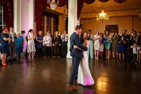 first dance at a trafalgar tavern wedding
