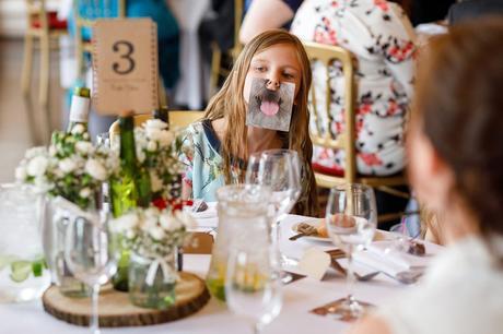 fun in the wedding breakfast