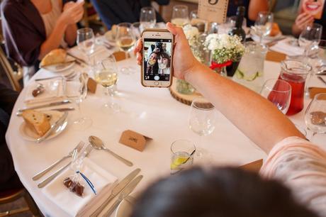 selfies in the wedding breakfast