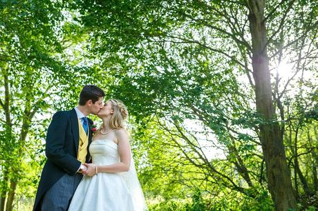 bride and groom portraits at a suffolk autumn wedding