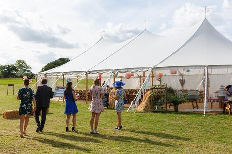 guests inspecting the marquee