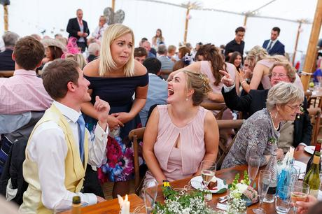 wedding guests chat