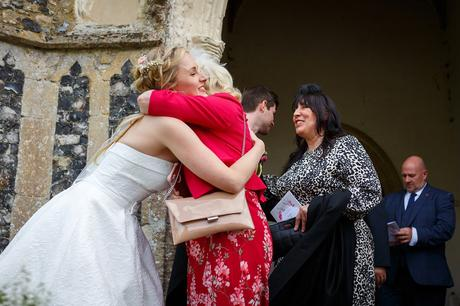 hugs outside dennington church