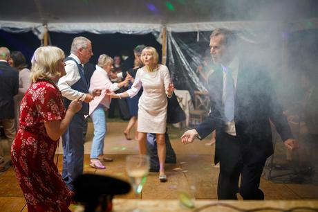 dancing at an autumn marquee wedding