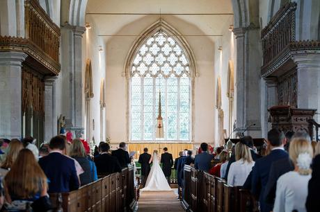 a wedding in dennington church