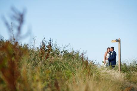 north norfolk wedding photos on the coastal path