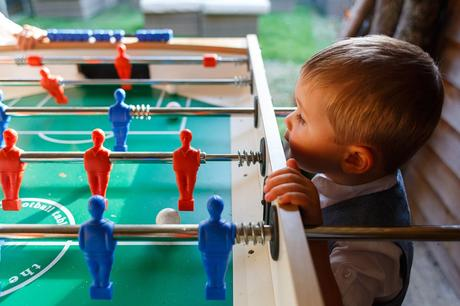 the page boys play table football