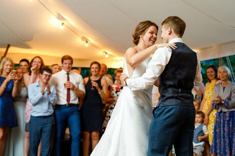 first dance at a norfolk summer wedding