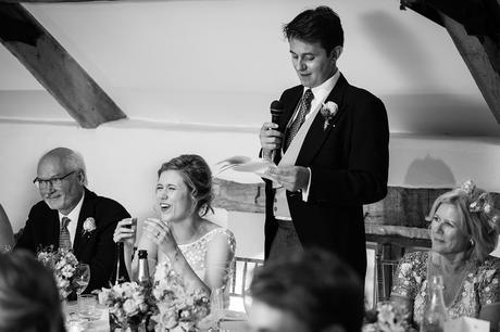 the grooms speech at a pennard house wedding
