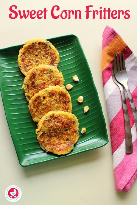 Sweet corn fritters are the perfect crunchy snack for chilly winter afternoons, which everyone from toddlers to elders will love!