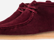 Walk Bordeaux: Ronnie Fieg Clarks Shearling Wallabee Boots