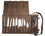 Chef Knife Roll Bag (13 Slots) | Stores 10 Knives,...