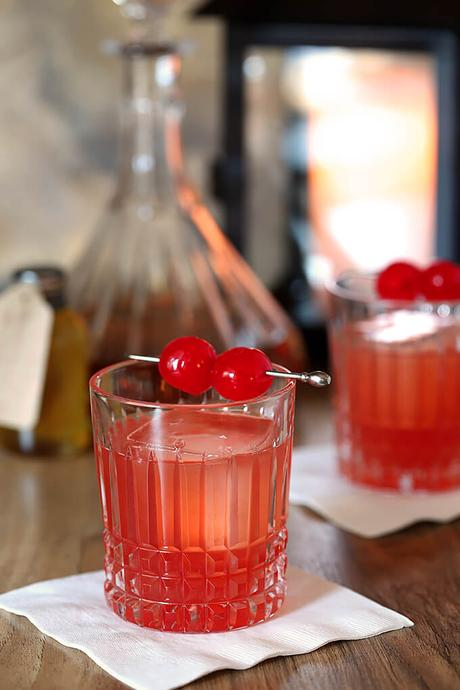 Bourbon Cherry Old Fashioned Cocktail