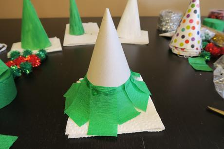Upcycle Party Hats for Easy Christmas Tree Crafts